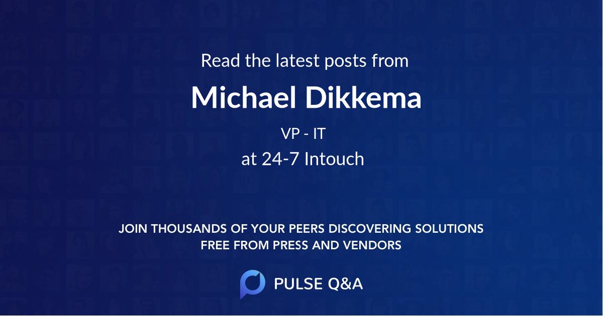 Michael Dikkema