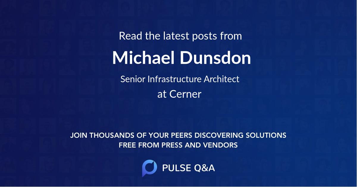 Michael Dunsdon