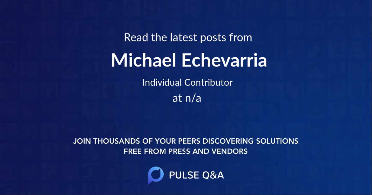 Michael Echevarria