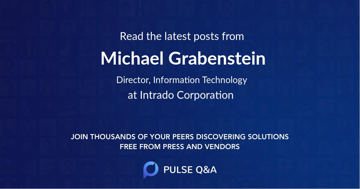 Michael Grabenstein