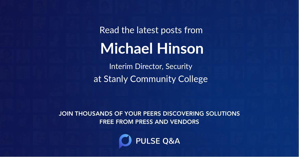 Michael Hinson