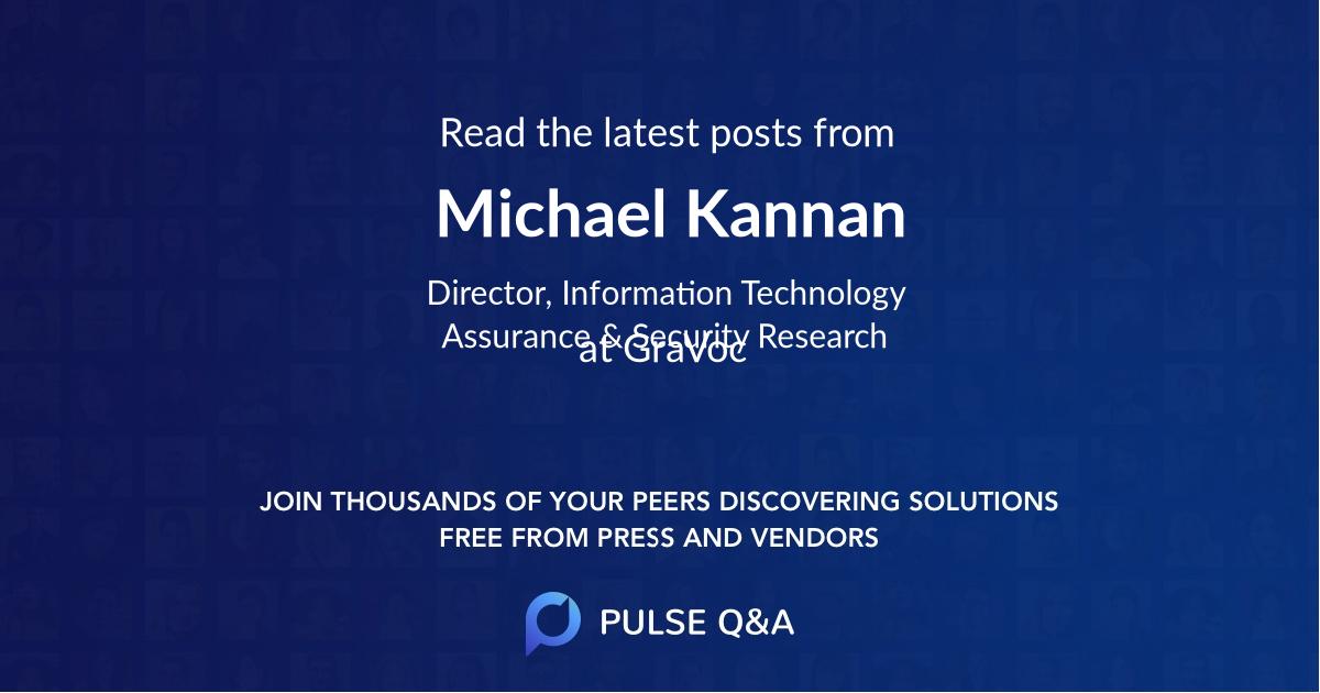 Michael Kannan