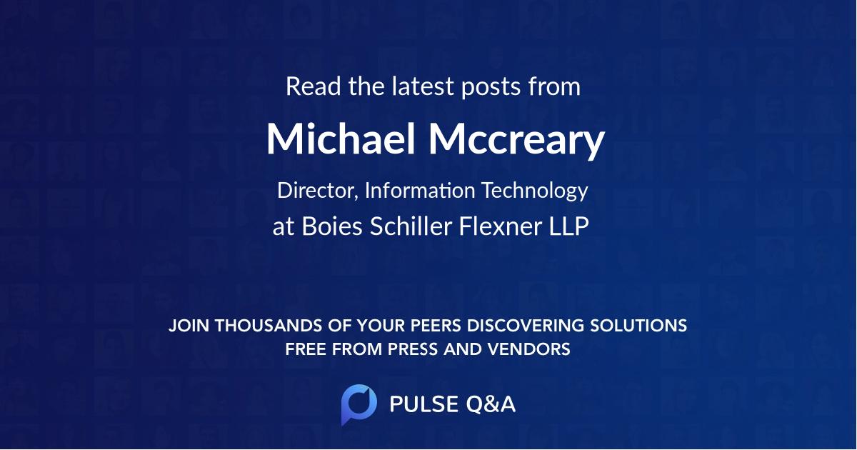 Michael Mccreary