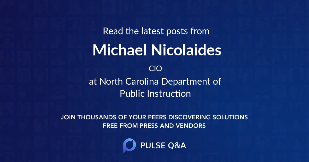 Michael Nicolaides