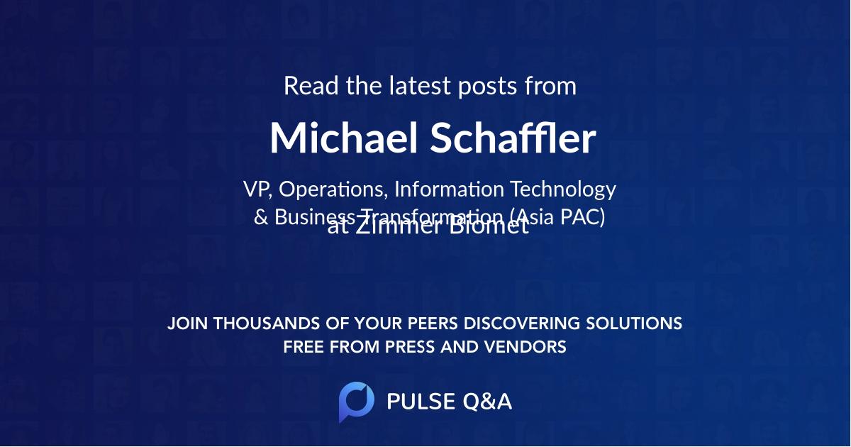 Michael Schaffler