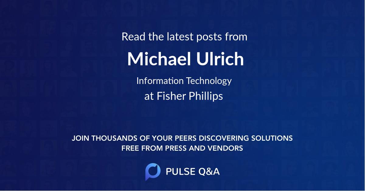 Michael Ulrich