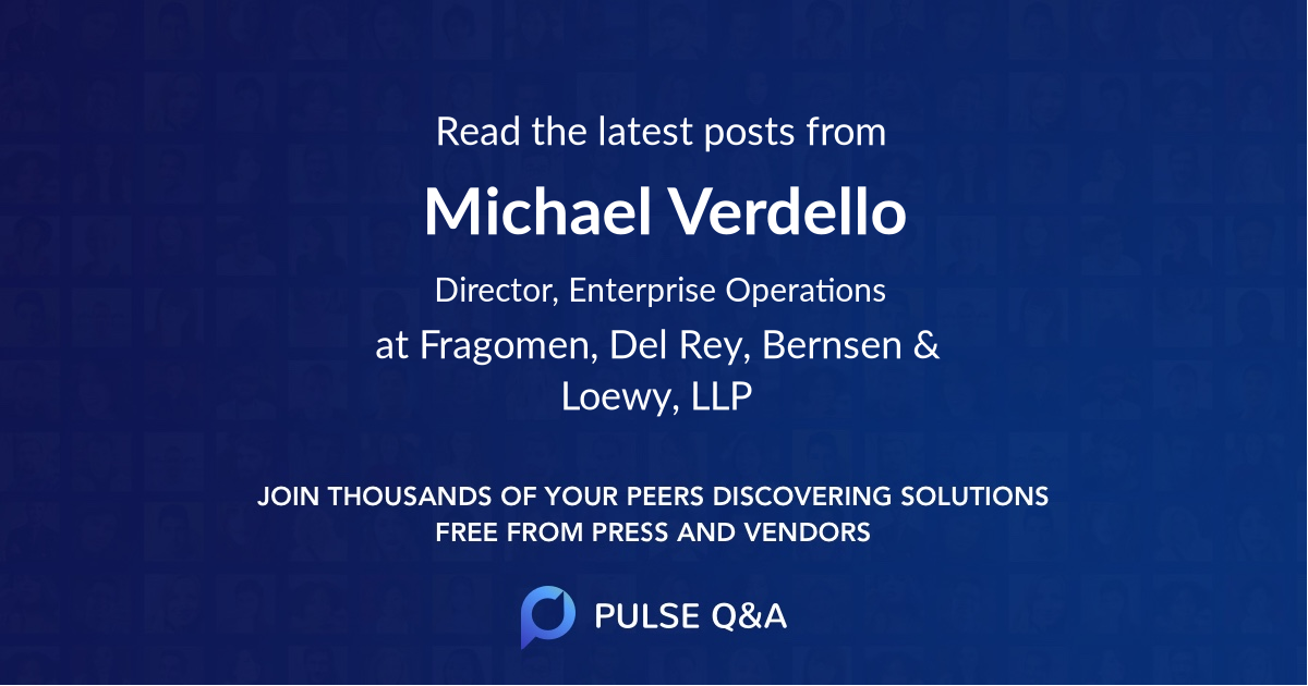 Michael Verdello