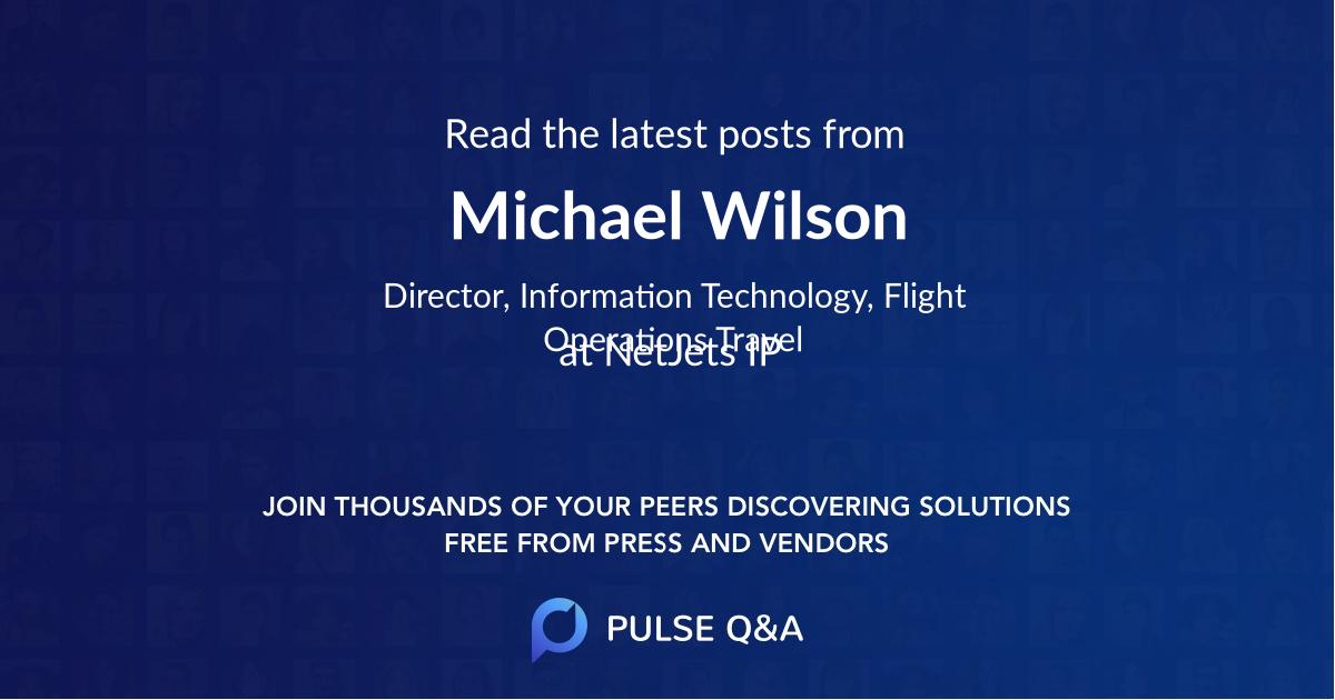 Michael Wilson