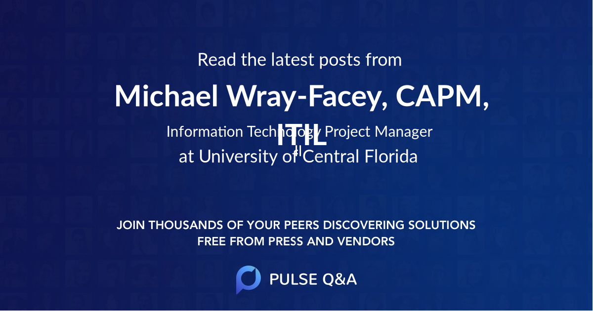 Michael Wray-Facey, CAPM, ITIL
