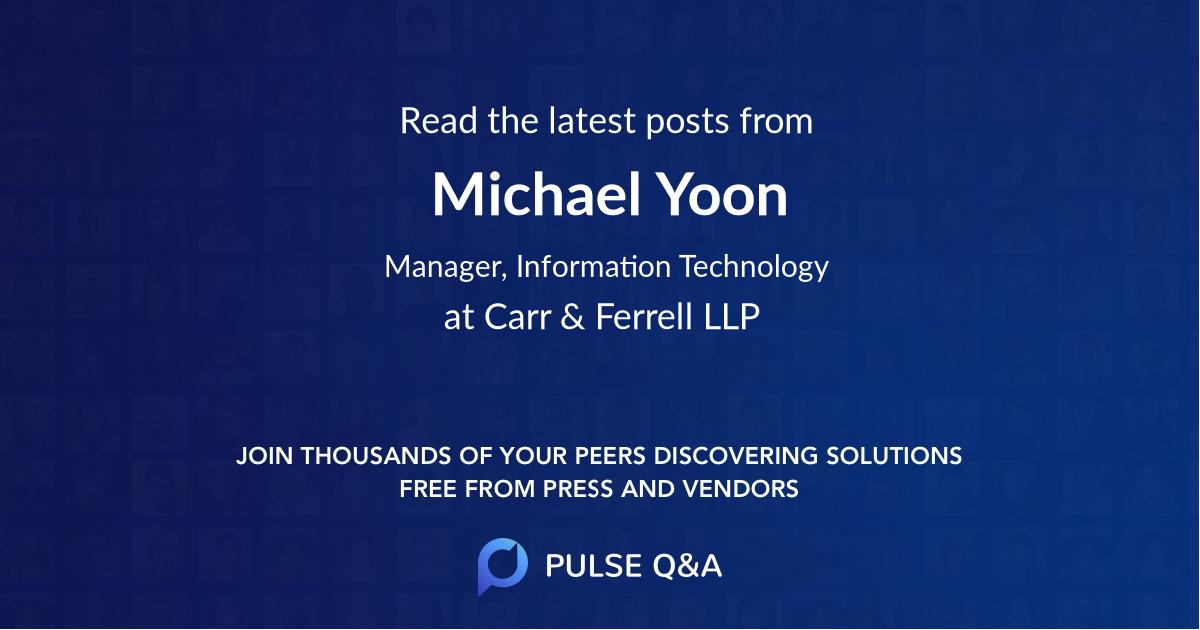 Michael Yoon