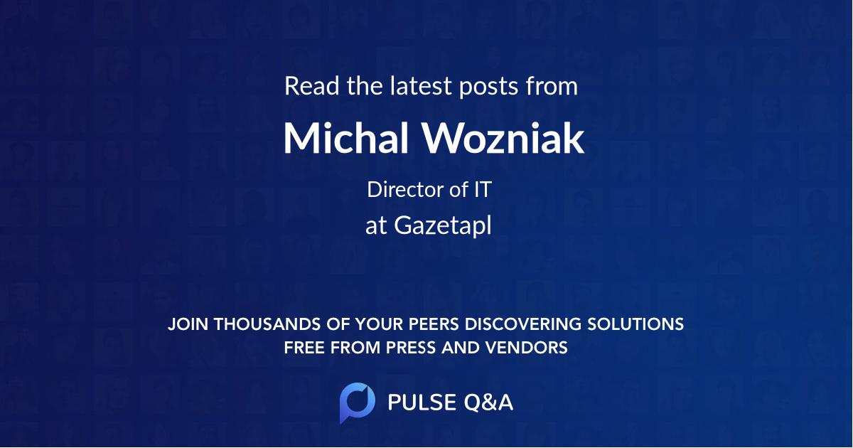 Michal Wozniak