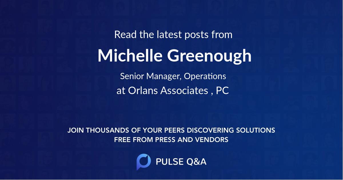 Michelle Greenough