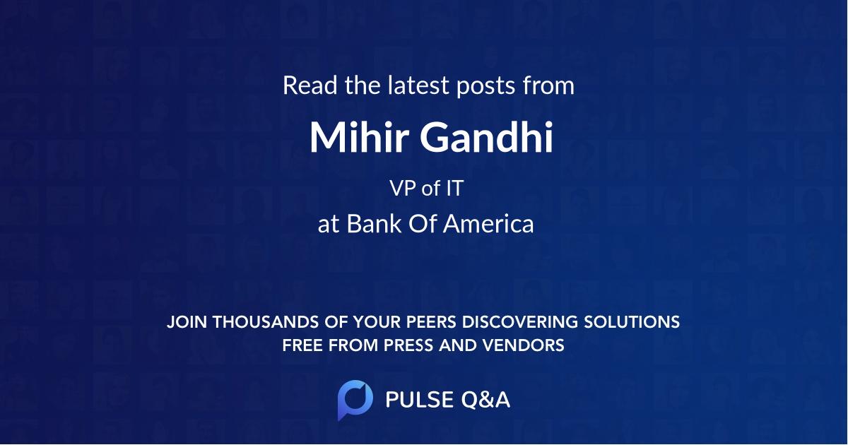 Mihir Gandhi