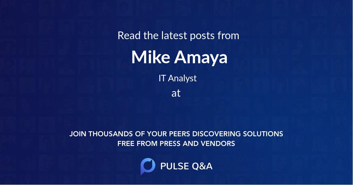 Mike Amaya