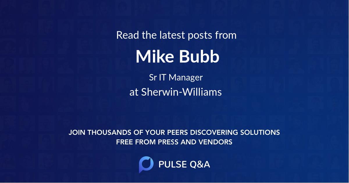 Mike Bubb