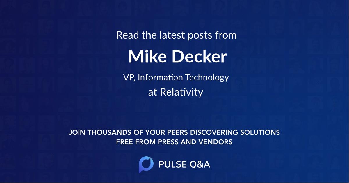 Mike Decker