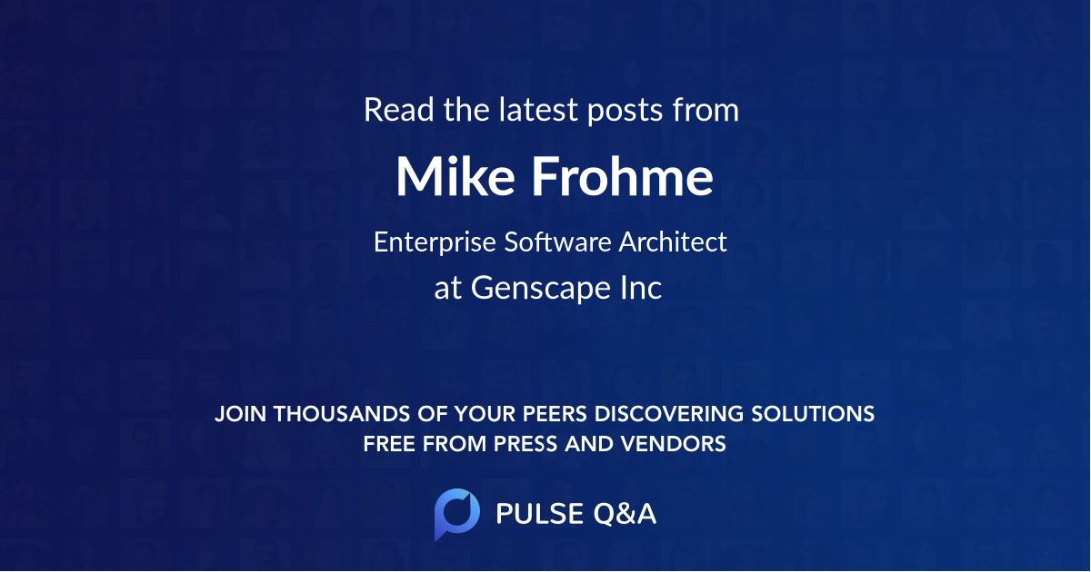 Mike Frohme
