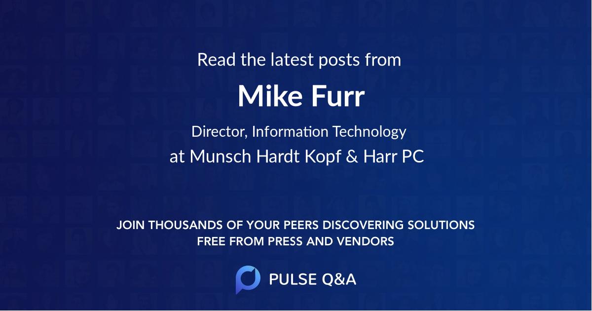 Mike Furr
