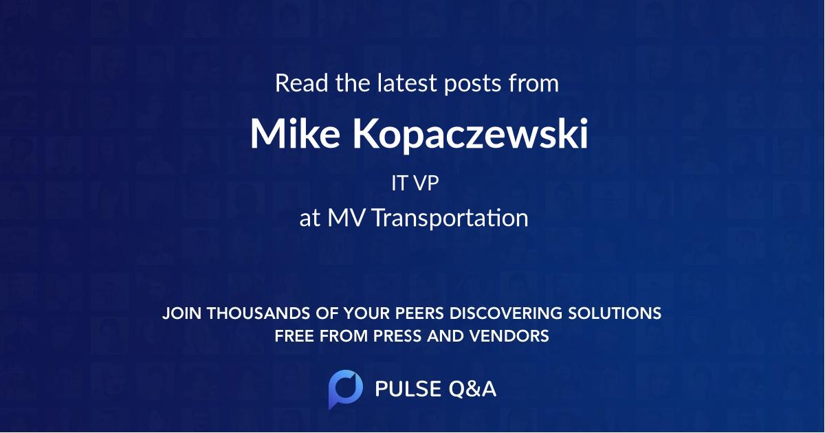 Mike Kopaczewski