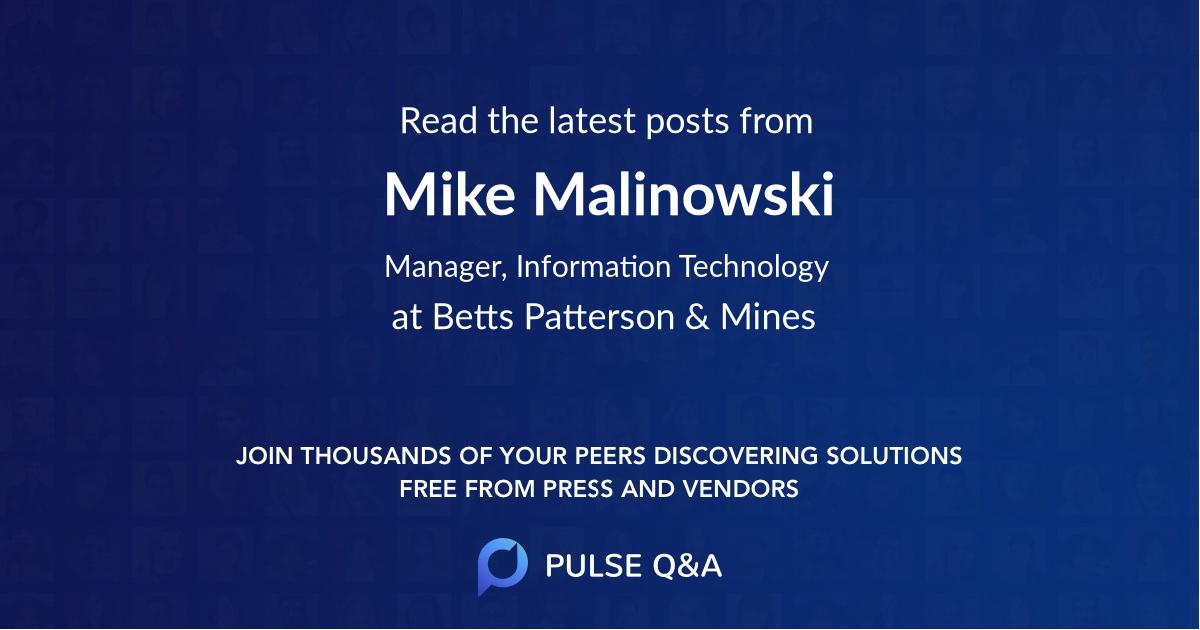 Mike Malinowski