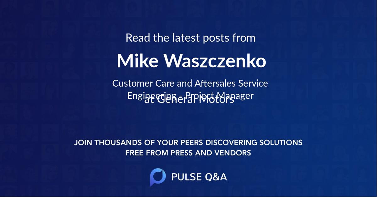 Mike Waszczenko