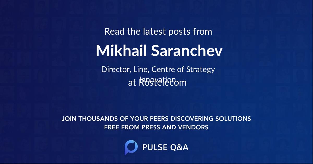 Mikhail Saranchev