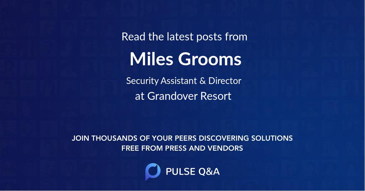 Miles Grooms