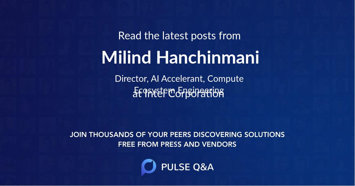 Milind Hanchinmani