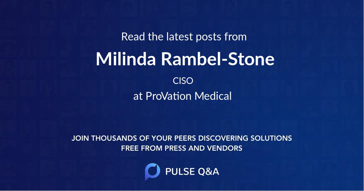 Milinda Rambel-Stone