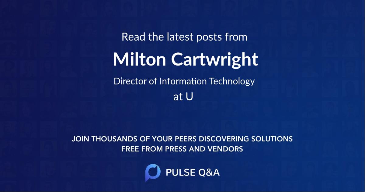 Milton Cartwright