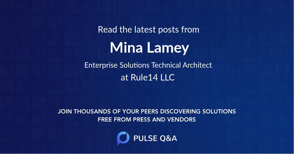 Mina Lamey