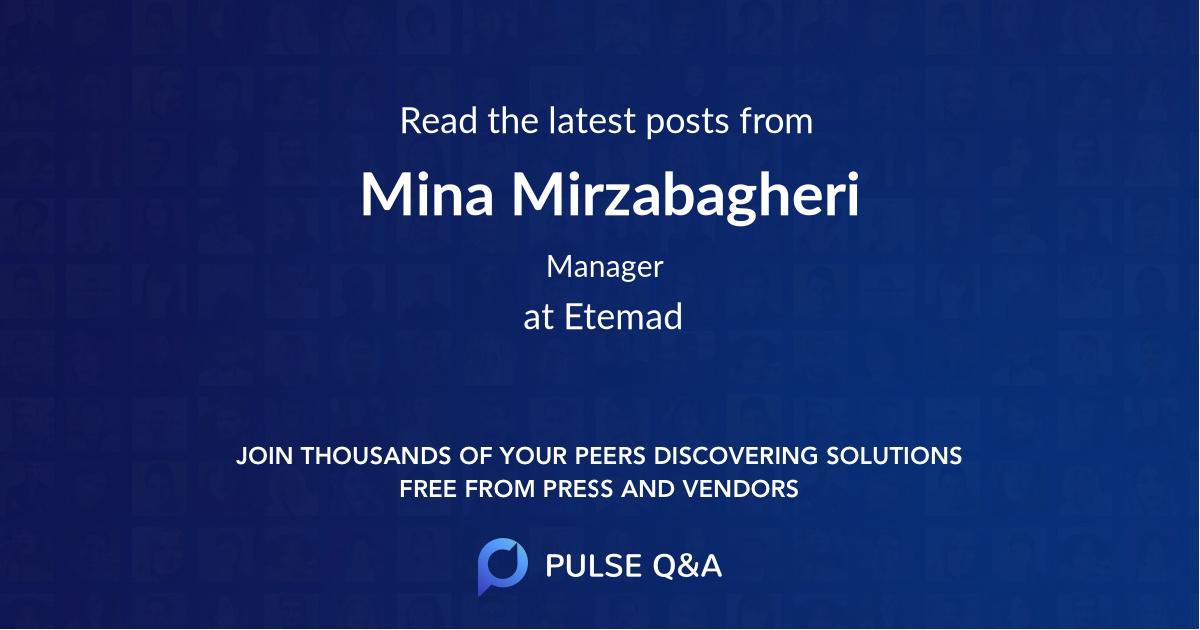 Mina Mirzabagheri