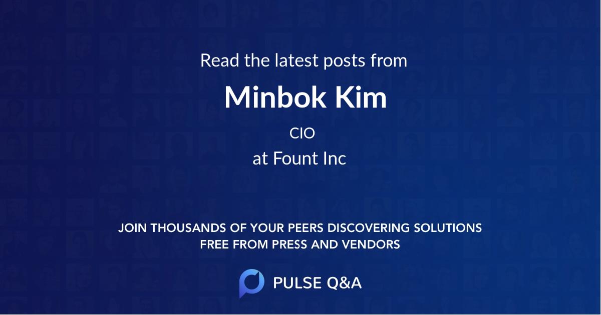 Minbok Kim