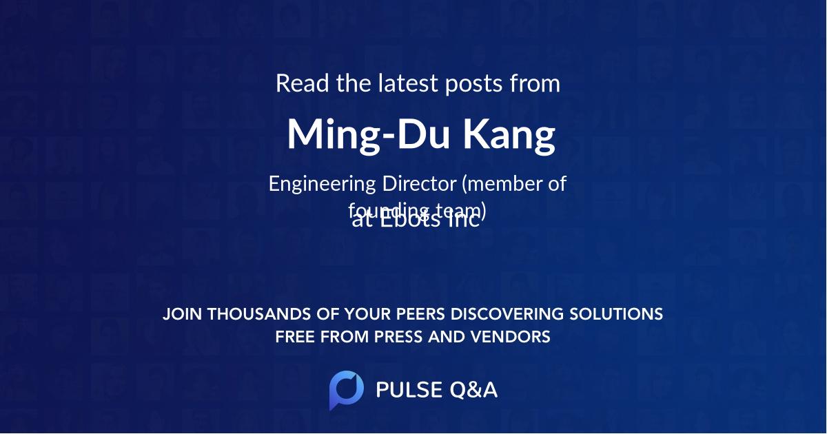 Ming-Du Kang