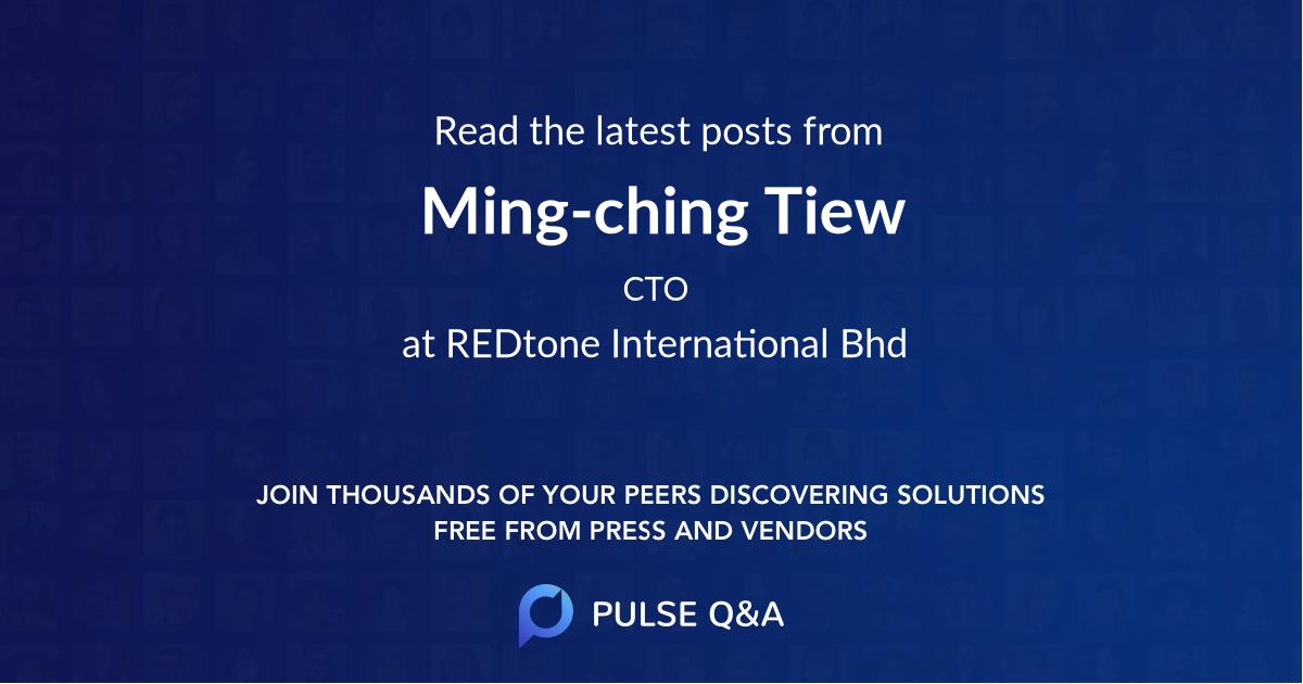 Ming-ching Tiew