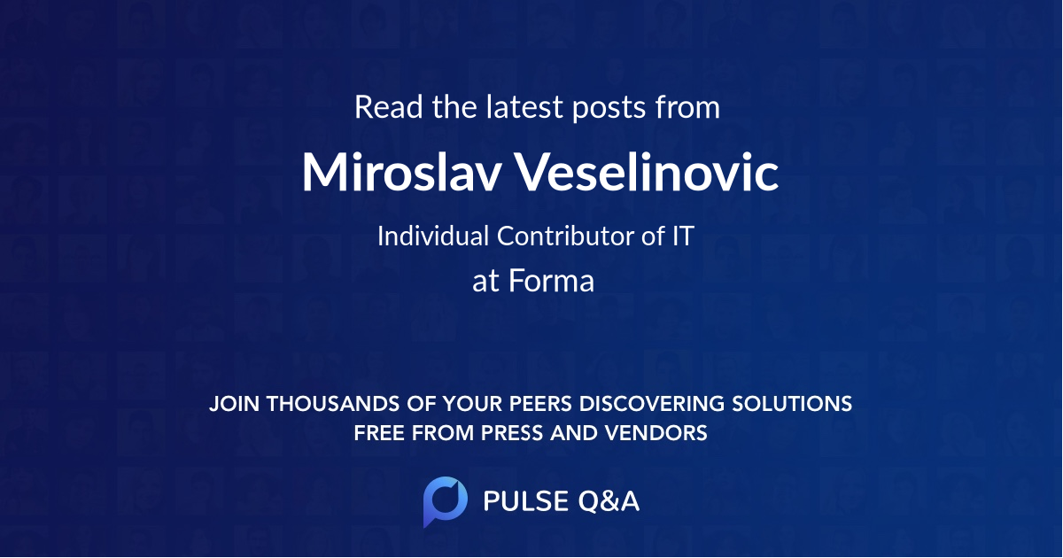 Miroslav Veselinovic