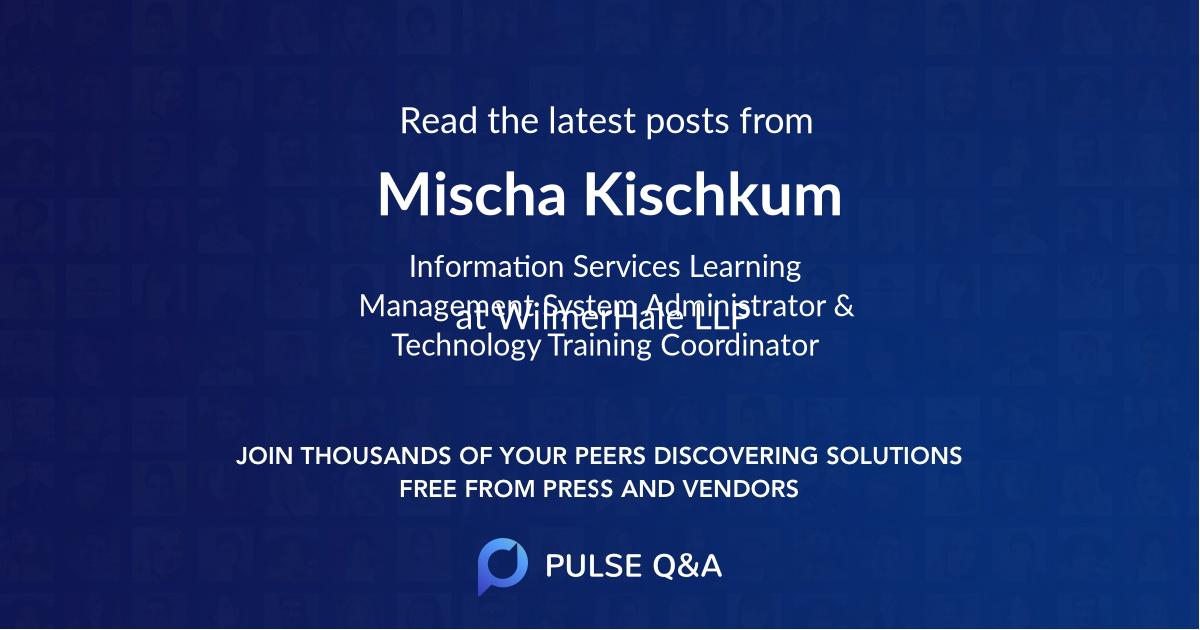 Mischa Kischkum