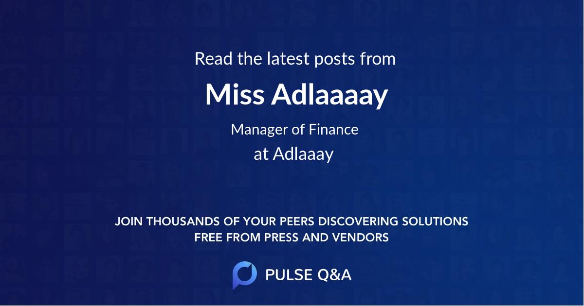 Miss Adlaaaay