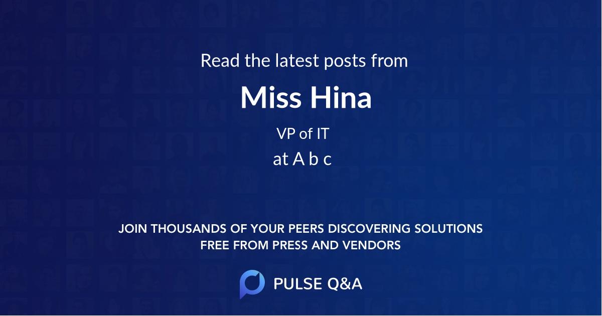 Miss Hina