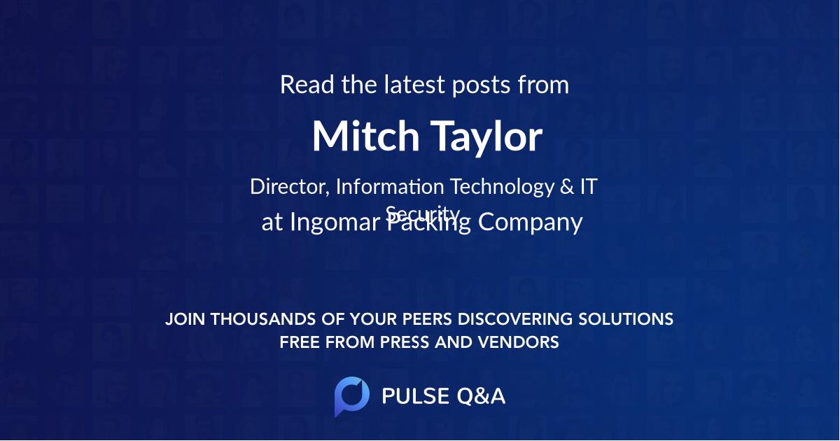 Mitch Taylor