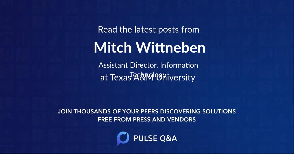 Mitch Wittneben