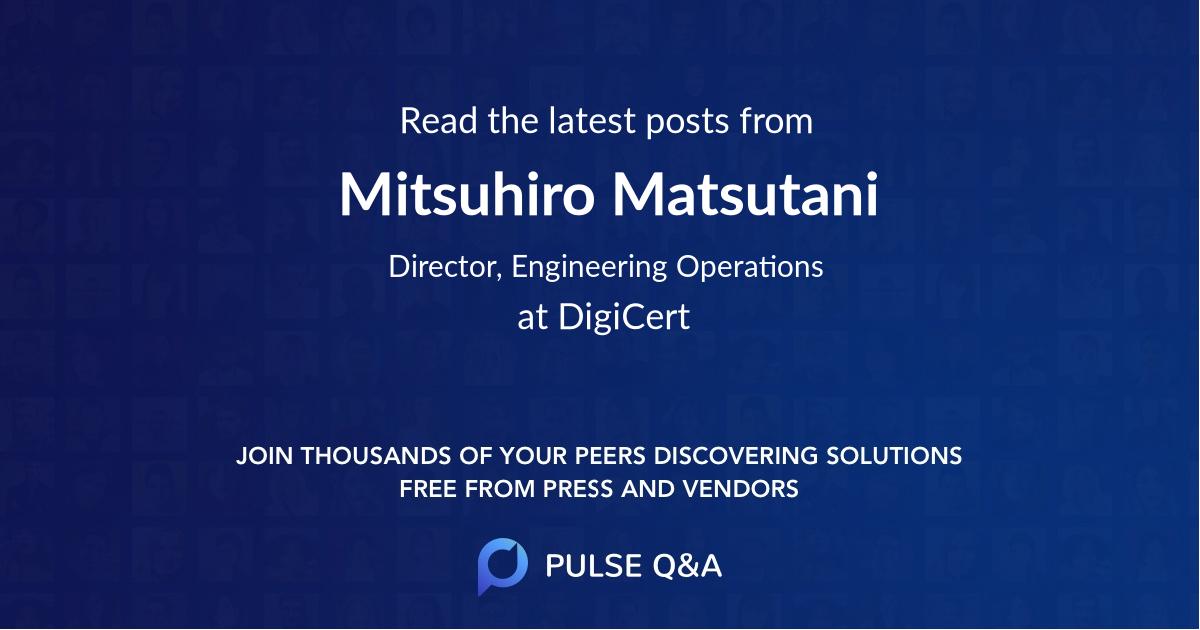 Mitsuhiro Matsutani