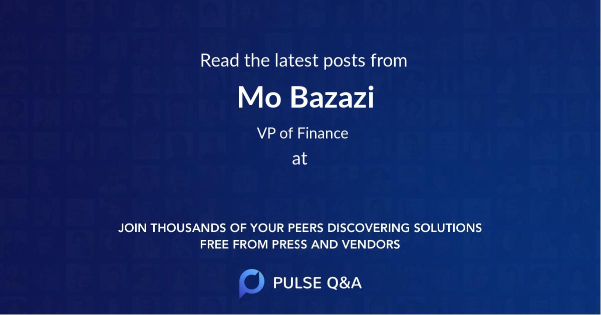 Mo Bazazi