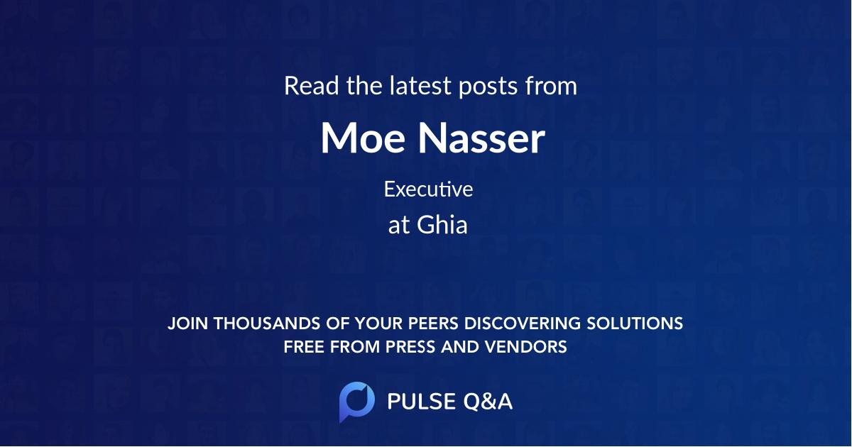 Moe Nasser