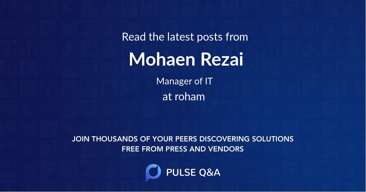 Mohaen Rezai