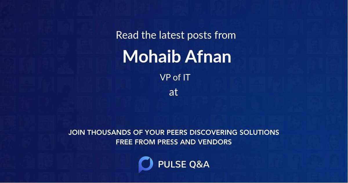 Mohaib Afnan