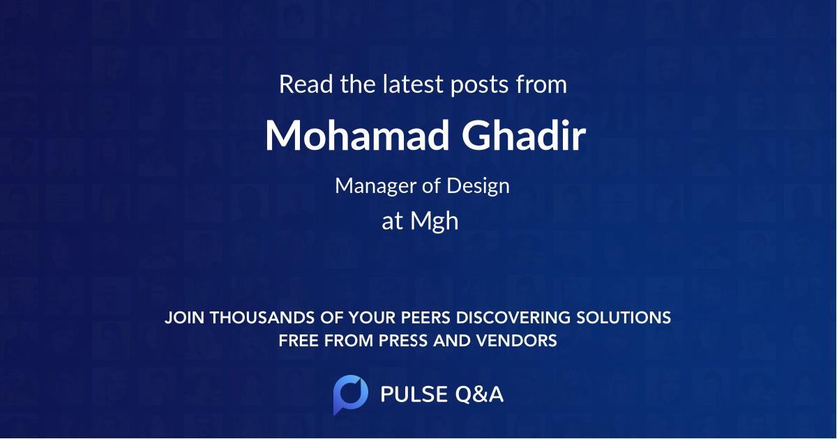 Mohamad Ghadir