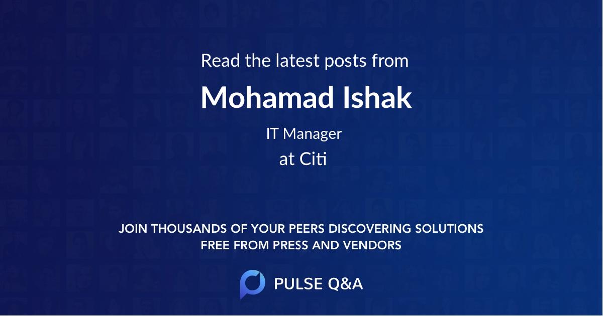 Mohamad Ishak