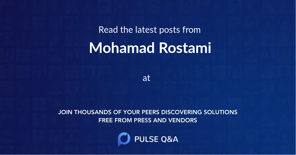 Mohamad Rostami