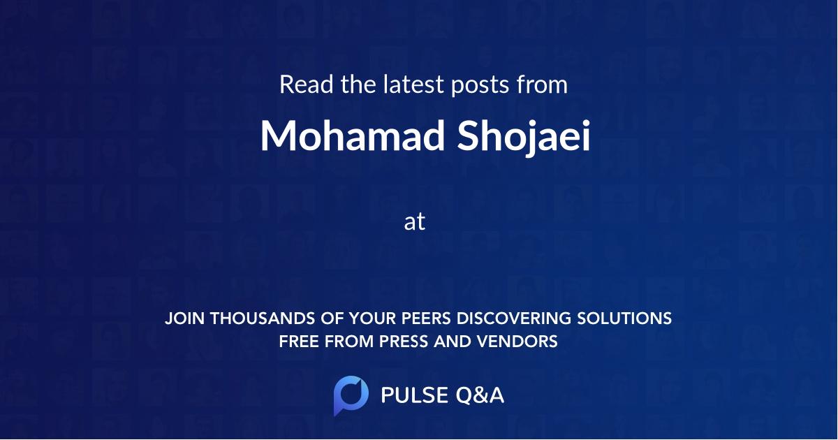 Mohamad Shojaei